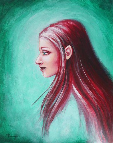 elf met rood haar van