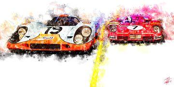 Le Mans Seite an Seite von Theodor Decker