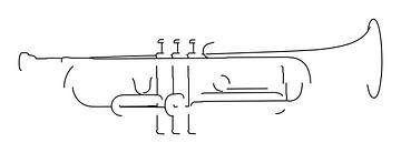 Trompetensilhouette von Drawn by Johan