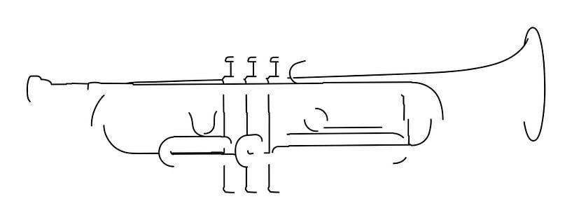 Trompet Silhouet van Drawn by Johan