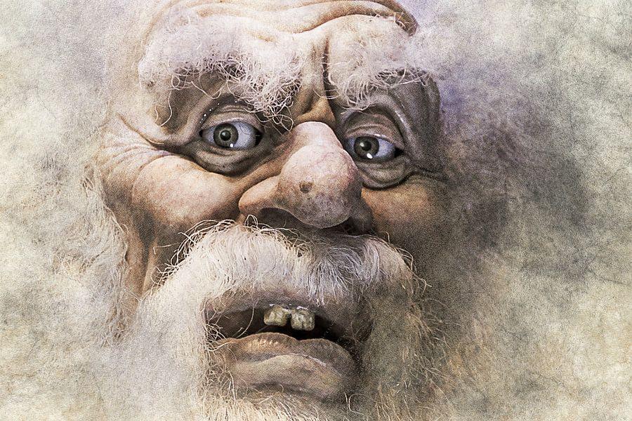 Close-up van de trollenkoning in de Efteling van Art by Jeronimo