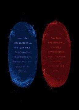 Rode of blauwe pil of blauwe pil van Nikita Abakumov