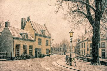 Winter im historischen Amersfoort von Watze D. de Haan