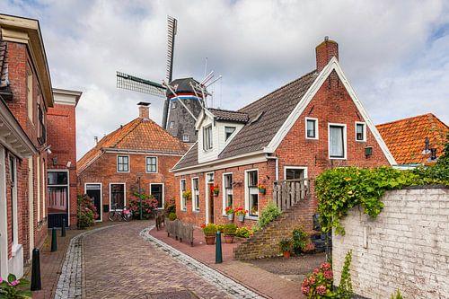 Windmolen De Ster in het Groningse dorpje Winsum