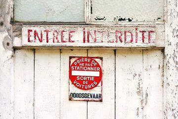 Eingang Interdite von Harry Wedzinga
