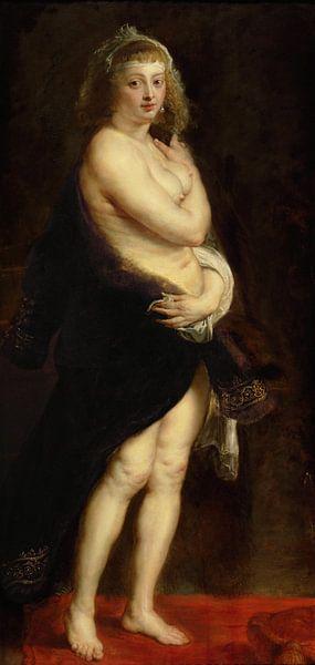 Helena Fourment in a Fur Robe, Peter Paul Rubens von Meesterlijcke Meesters