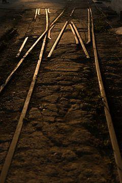 Spoorbaan in Valle de Ingenios, Cuba van Frank Laurens