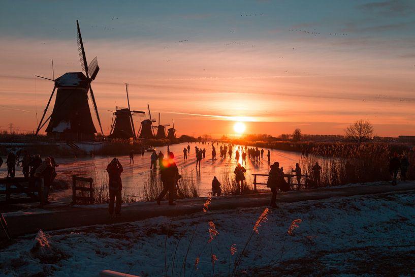 Kinderdijk winter 8 van Nuance Beeld