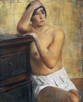 Sitzender weiblicher Akt, WILLY JAECKEL, 1928 von Atelier Liesjes