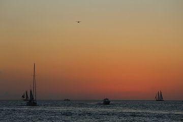 Zonsondergang Key West Florida Verenigde Staten van Berg Photostore