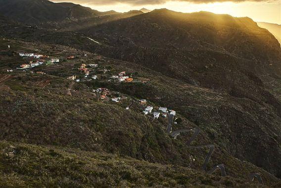 Zonsondergang nabij Los Silos
