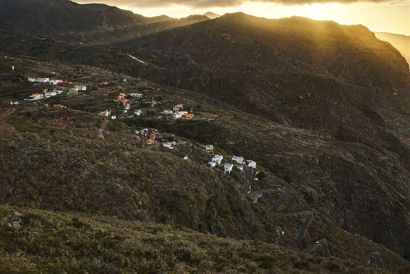 Zonsondergang nabij Los Silos van Sander Knopper