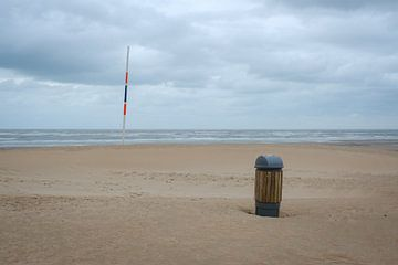 Mülleimer am Strand von Johan Vanbockryck