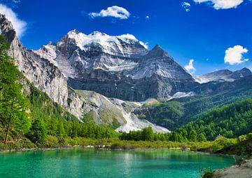 See am Fuße eines Berges von Bart Nikkels