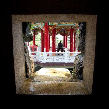 Zhinan tempel in Taipei, Taiwan van Kees van Dun
