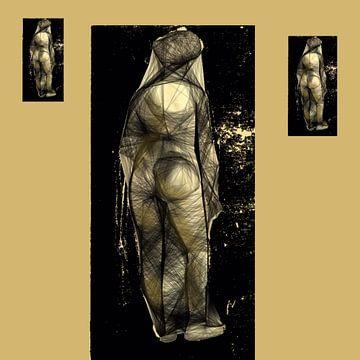 Nude. Zwart geel van Raina Versluis