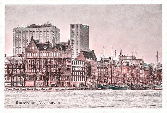Oude ansichten: Rotterdam Veerhaven