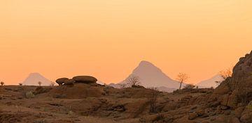 Woestijnlandschap na zonsondergang van Bas Ronteltap