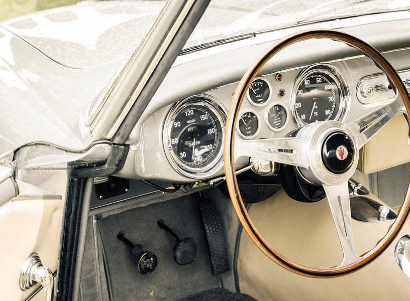 Interieur van een Maserati A6G 2000 Italiaanse coupe GT-auto van Sjoerd van der Wal