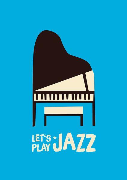 Let's play jazz (blue) van Rene Hamann