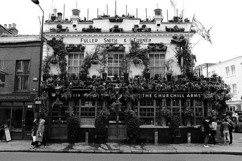 De Churchill Arms pub, Notting Hill, Londen van