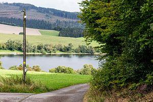 Diemelsee vanaf de weg gezien, Duitsland