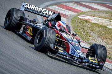 Minardi Formule 1 racewagen in een bocht op het circuit van Zandvoort van Sjoerd van der Wal