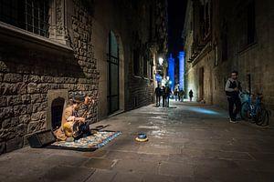 Straatmuzikant in Barcelona