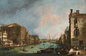 Het Canal Grande in Venetië met de Rialto-brug, Canaletto