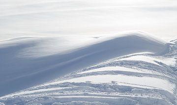 Winterlandschaft in die Schweiz, zwischen Fiescheralp en Bettmeralp von Johan van Veelen