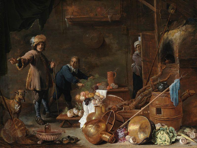 Küche innen, David Teniers der Jüngere, Jan Davidsz. de Heem von Meesterlijcke Meesters