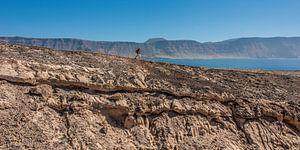Wandelen op het eiland La Graciosa, Canarische Eilanden.