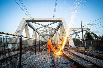 Travaux sur le pont ferroviaire de Weesp sur Stefan Verkerk