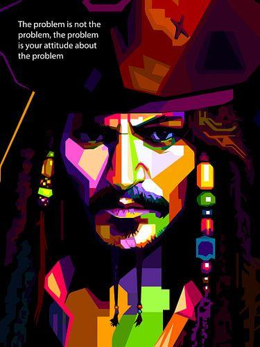 Pop Art Jack Sparrow - Pirates of the Caribbean van