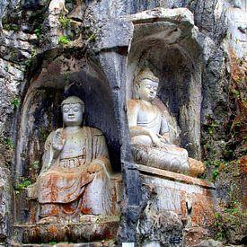 Boeddha en Boeddha, China van Inge Hogenbijl