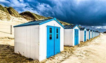 Strandhuisjes De Koog Texel van Mario Calma