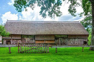 Agrarische schuur Oud-Aalden met Want muur van R Smallenbroek
