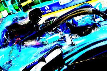 HAM18 - Lewis Hamilton van Jean-Louis Glineur alias DeVerviers