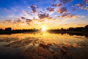 Blauwe kamer zonsopkomst van Dennis van de Water