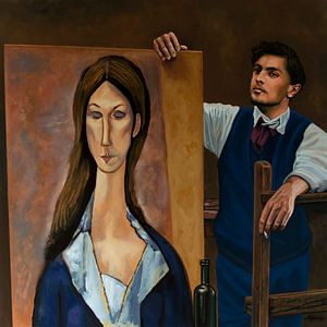 Modigliani Schilderij