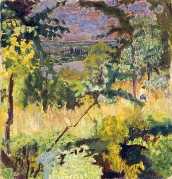 Vernon - Zicht op de rivier, Pierre Bonnard, 1923 van Atelier Liesjes