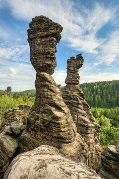Herkulessäulen in Bielatal in Saxon Switzerland van Michael Valjak