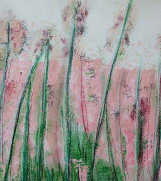 bloemenweide roze van Susanne A. Pasquay