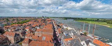 Vue sur la ville de la ligue Hanseatique Kampen à Overijssel sur