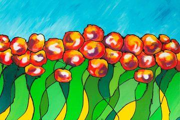Bloemenveld van Lida Bruinen