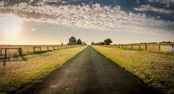 Lange wegen in Koroit Country in Victoria, Australië