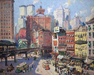 Colin Campbell Cooper, Südfähre, New York - 1917 von Atelier Liesjes
