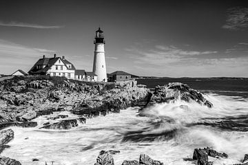 Cape Elizabeth, Portland - Maine (schwarzweiß) von Sascha Kilmer