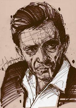Johnny Cash arte sur Jos Hoppenbrouwers
