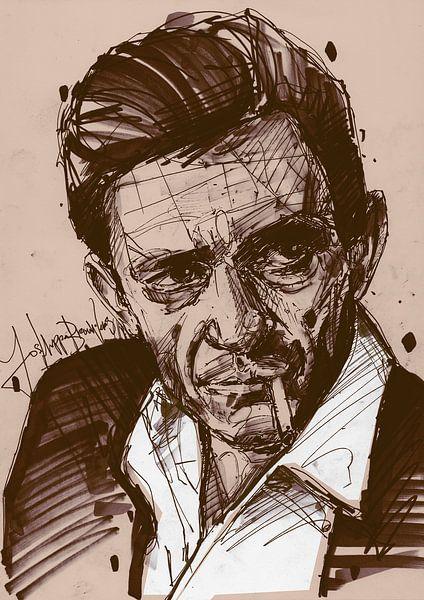 Johnny Cash kunst van Jos Hoppenbrouwers